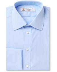 Turnbull & Asser Pink Double-cuff Cotton Shirt - Blue