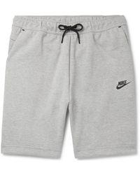 Nike - Logo-print Cotton-blend Tech-fleece Drawstring Shorts - Lyst