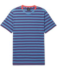 PS by Paul Smith - Striped Cotton-jersey T-shirt - Lyst