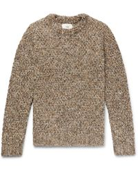 Knitted Folk In Men Brown Mélange Sweater For Lyst zqqrUT5WwS