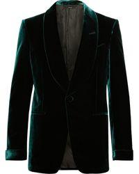 Tom Ford Emerald Slim-fit Shawl-collar Velvet Tuxedo Jacket - Green
