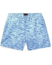 Tod's Mid-length Printed Swim Shorts - Blue