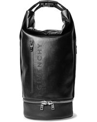 Givenchy - Jaw Convertible Leather-trimmed Coated-canvas Tote Bag - Lyst