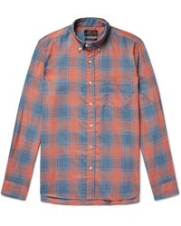 Beams Plus - Button-down Collar Checked Woven Shirt - Lyst