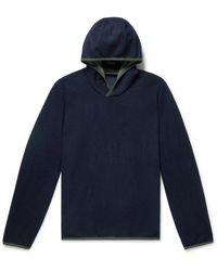 Sease Virgin Wool-blend Hoodie - Blue