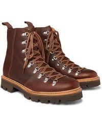 Grenson Brady Full-grain Leather Boots - Brown