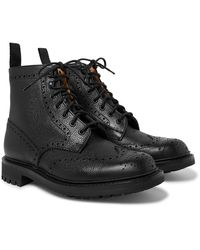 Church's Mac Farlane 2 Pebble-grain Brogue Boots - Black