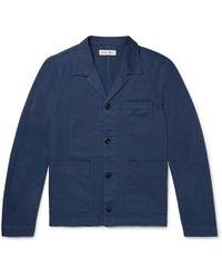Alex Mill - Slim-fit Camp-collar Cotton-blend Twill Shirt Jacket - Lyst