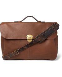Bleu De Chauffe - Charles Full-grain Leather Briefcase - Lyst