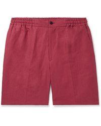 Rubinacci Linen Shorts - Red