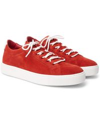 Tod's - Leather-trimmed Suede Sneakers - Lyst