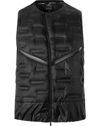 Nike Aeroloft Mesh-panelled Quilted Shell Gilet - Black