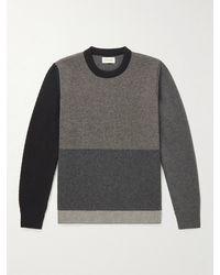 Oliver Spencer Blenheim Patchwork Wool Jumper - Black