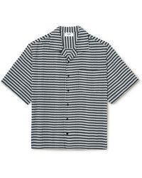 CELINE HOMME Camp-collar Printed Voile Shirt - Black
