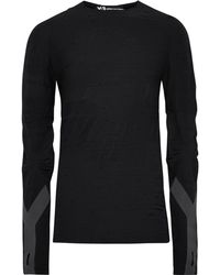 Y-3 - Slim-fit Reflective-trimmed Textured Wool-blend T-shirt - Lyst
