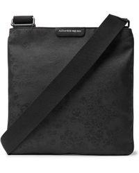 Alexander McQueen - Leather-trimmed Jacquard Messenger Bag - Lyst