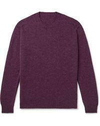 Anderson & Sheppard Shetland Wool Sweater - Purple