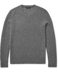 Rag & Bone Kaden Ribbed Cashmere Sweater - Gray
