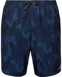 Patagonia - Nine Trails Slim-fit Camouflage-print Stretch-shell Shorts - Lyst