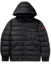 Moncler Born To Protect Quilted Econyl Hooded Down Jacket - Black