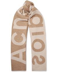 Acne Studios - Toronty Oversized Logo-intarsia Wool-blend Scarf - Lyst