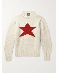 Monitaly Chamula Star-intarsia Merino Wool Jumper - Multicolour