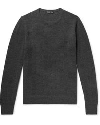 Alex Mill - Waffle-knit Merino Wool And Cashmere-blend Sweater - Lyst