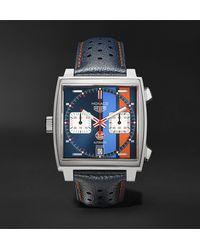 Tag Heuer Monaco Gulf Calibre 11 Automatic Watch 38mm - Blue