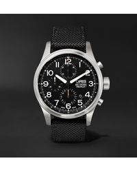 Oris Big Crown Propilot Automatic Chronograph 44mm Stainless Steel And Nylon Watch, Ref. No. 01 774 7699 4134ts - Black