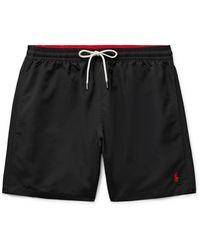 Polo Ralph Lauren Traveller Mid-length Swim Shorts - Black