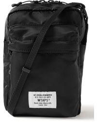 WTAPS Reconnaissance Logo-appliquéd Nylon Messenger Bag - Black