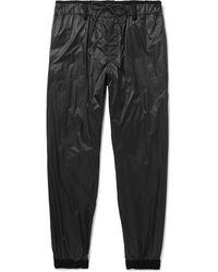 Sacai Tapered Velvet-trimmed Shell Track Trousers - Black