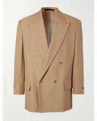 Fear Of God California Double-breasted Crepe Blazer - Brown