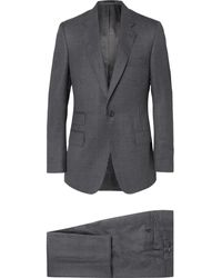 Kingsman Gray Slim-fit Puppytooth Checked Wool Suit