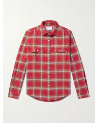 Adsum Checked Cotton-flannel Shirt - Red