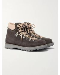 Diemme Roccia Vet Leather-trimmed Suede Hiking Boots - Brown