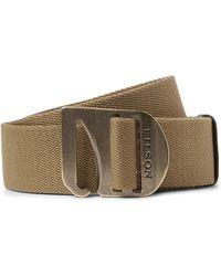 Filson Tan Togiak 4cm Leather-trimmed Webbing Belt - Brown