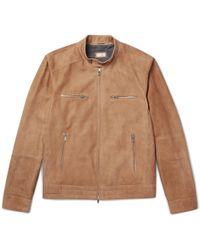 Brunello Cucinelli - Suede Blouson Jacket - Lyst