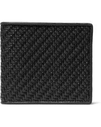 Ermenegildo Zegna - Pelle Tessuta Leather Billfold Wallet - Lyst