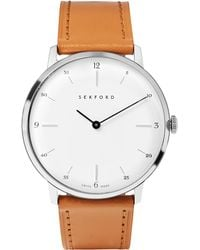 Sekford - Type 1a Stainless Steel And Leather Watch - Lyst