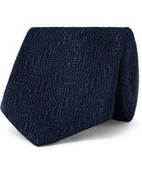 Tom Ford 7.5cm Woven Silk Tie - Blue