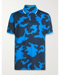 G/FORE Camouflage-print Tech-jersey Golf Top - Blue