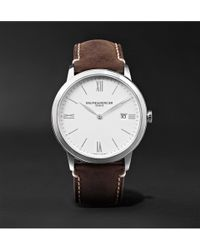 Baume & Mercier - My Classima 40mm Stainless Steel And Leather Watch - Lyst