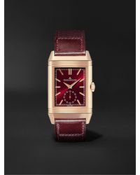 Jaeger-lecoultre Casa Fagliano Reverso Tribute Duoface Limited Edition Hand-wound 28.3mm 18-karat Rose Gold And Leather Watch - Multicolour