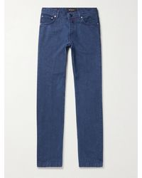 Kiton Slim-fit Stretch-denim Jeans - Blue