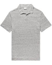 Onia - Shaun Slim-fit Slub Linen Polo Shirt - Lyst
