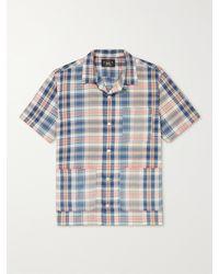 RRL Wayne Slim-fit Checked Cotton Shirt - Blue