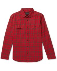 Filson - Scout Checked Cotton-flannel Shirt - Lyst