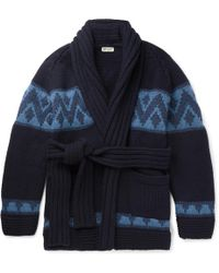 CONNOLLY - Beach Belted Intarsia Cashmere Cardigan - Lyst