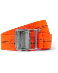 Off-White c/o Virgil Abloh - 3.5cm Orange Webbing Belt - Lyst